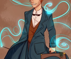 drawing, fantastic beasts, and newt scamander image