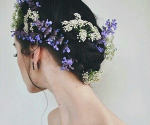 flowers, hair, and hairstyle image