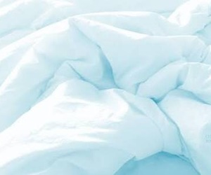 white, bed, and blue image