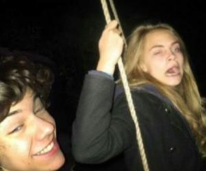 cara delevingne, Harry Styles, and model image