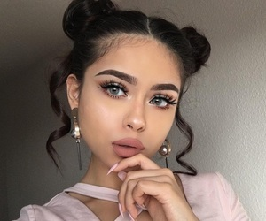 eyes, beauty, and hair image