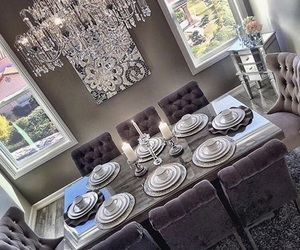 dining room, luxury, and dining image