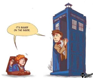 doctor who, harry potter, and tardis image