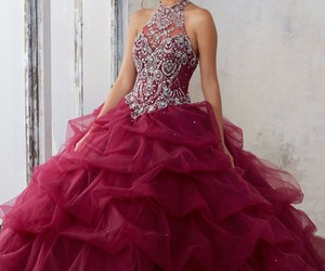 dress, gown, and quinceanera image