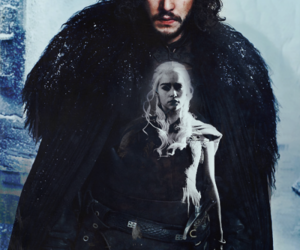 jon snow, daenerys targaryen, and jonerys image