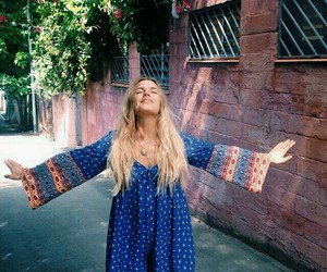 hippie and dress image