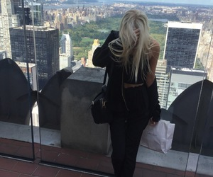 model, nyc, and blonde image