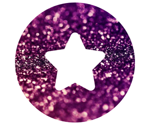 badge, glitter, and we heart it image