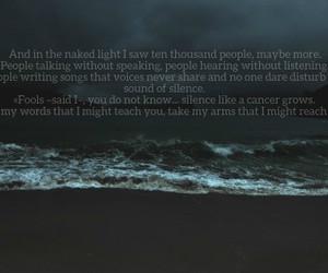 dark, disturbed, and music image