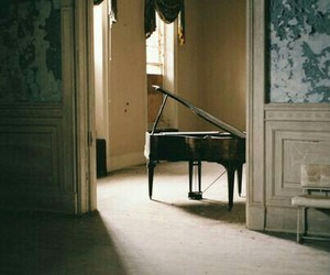 piano, grunge, and vintage image