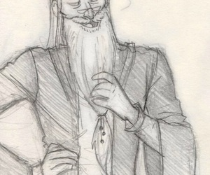 drawing, dumbledore, and harry potter image