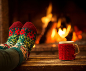 fire, christmas, and winter image