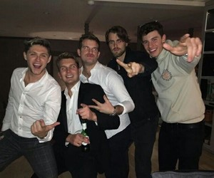 niall horan, shawn mendes, and one direction image