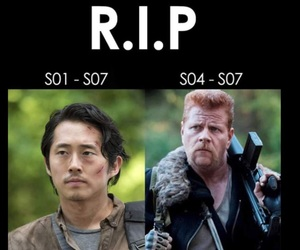 Abraham, the walking dead, and glenn image