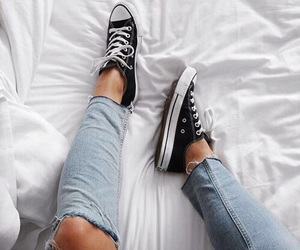 fashion, shoes, and converse image