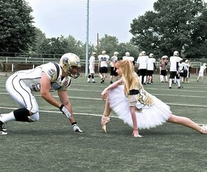couple, football, and love image