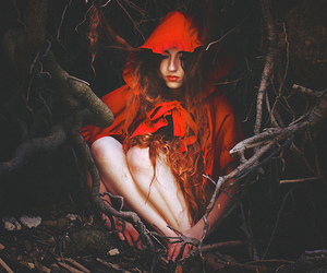 red, little red riding hood, and art image