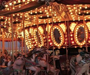 lights, carousel, and fun image