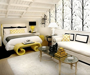 yellow, bedroom, and design image