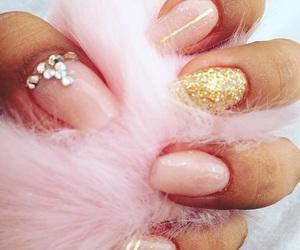 nails, rosa, and uñas image