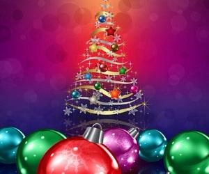 christmas, christmas tree, and decorated image