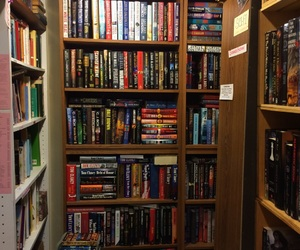 book, book shelf, and book store image