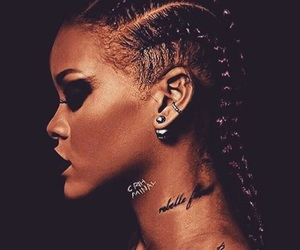 rihanna, black, and riri image