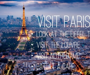 eiffeltower, lights, and quotes image