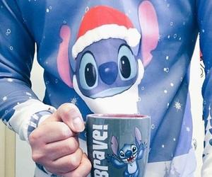 boy, christmas, and stitch image