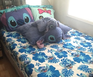 bed, stitch, and pillow image