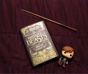 fantastic beasts, book, and harry potter image
