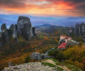 autumn, travel, and Greece image
