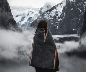 mountains, cold, and girl image
