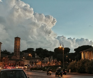 clouds, europe, and rome image