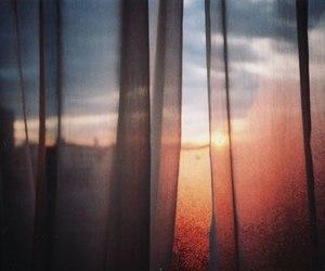 sun, window, and sunset image