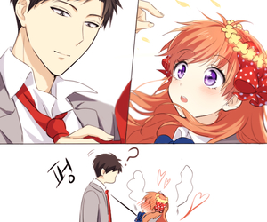 anime, gekkan shoujo nozaki-kun, and couple image