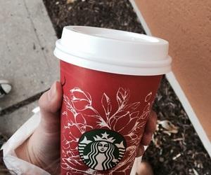 christmas, coffee, and red image