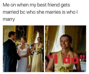 bff, bride, and funny image
