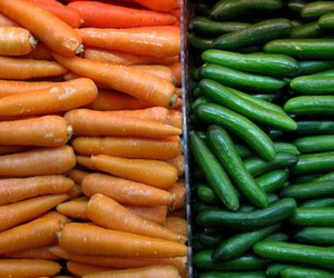 carrots, female, and green image