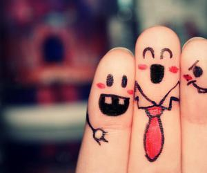 fingers, smileys, and friends image