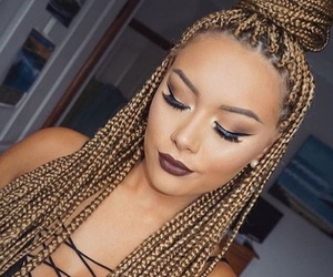 braids, box braids, and light skin image