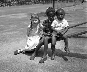 children, vivian maier, and see saw image