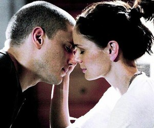 prison break, couple, and kiss image