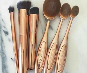 bronze, Brushes, and fashion image