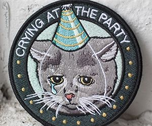 crying, party, and patch image