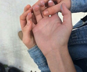 hands, couple, and grunge image