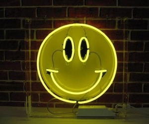 smile, neon, and light image