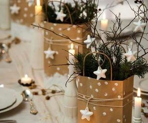 christmas, dine, and table setting image