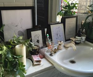 bathroom, plants, and aesthetic image
