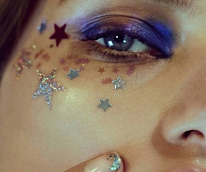 astrology, glitter, and makeup image
